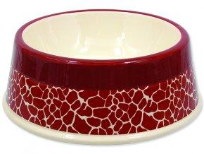 Miska DOG FANTASY keramická žirafa červená 25,5 cm 1,2 l