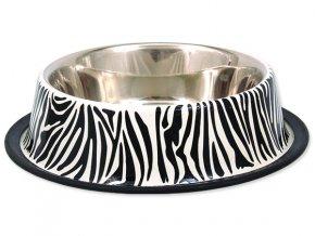 Miska DOG FANTASY nerezová s gumou zebra 33 cm 2,8 l