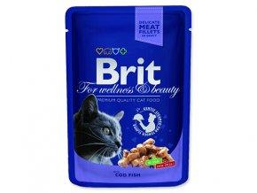 BRIT Premium cat Kapsička cod fish 100 g