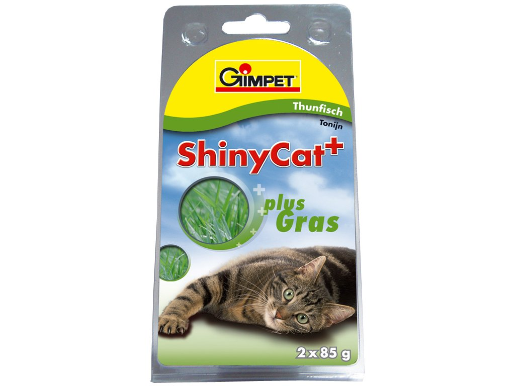 Konz.SHINY CAT tun+koc.trava 2x70g