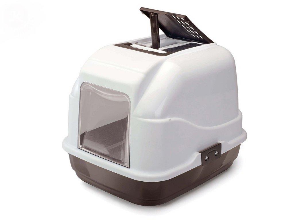 WC Easy Cat hnědá 50x40x40 cm