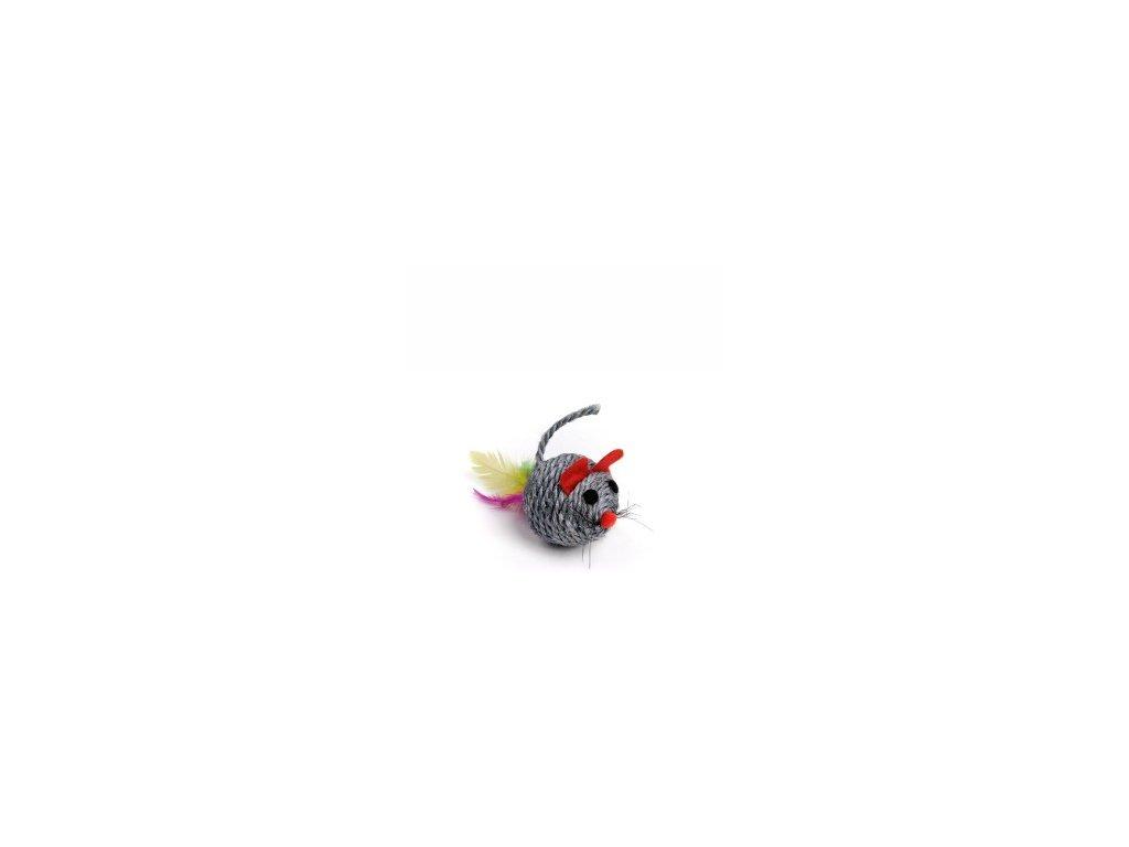 58650 jk animals hracka sisalova chrastici mys koule 5 cm 0