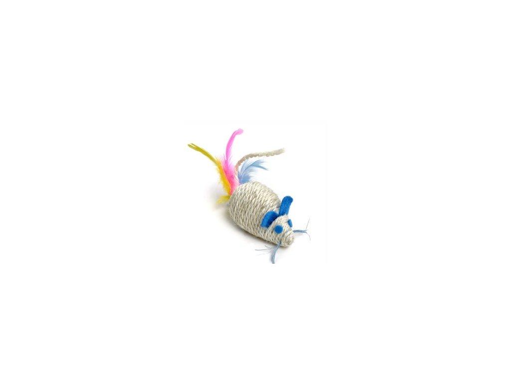 58662 jk animals hracka sisalova chrastici mys 10 cm 0