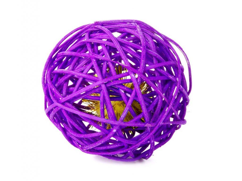 58784 3 jk animals hracka pro kocky fialova ratanova koule s rolnickou 6 cm 1