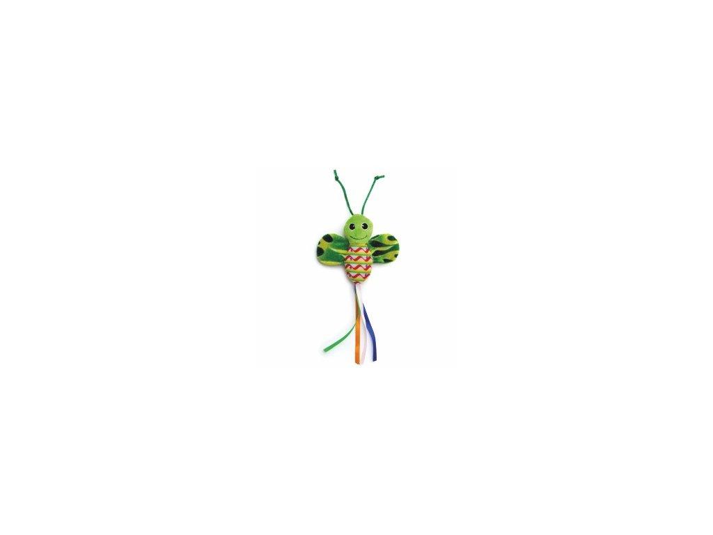 58787 3 jk animals hracka pro kocky zeleny sustici motyl 28 cm 0