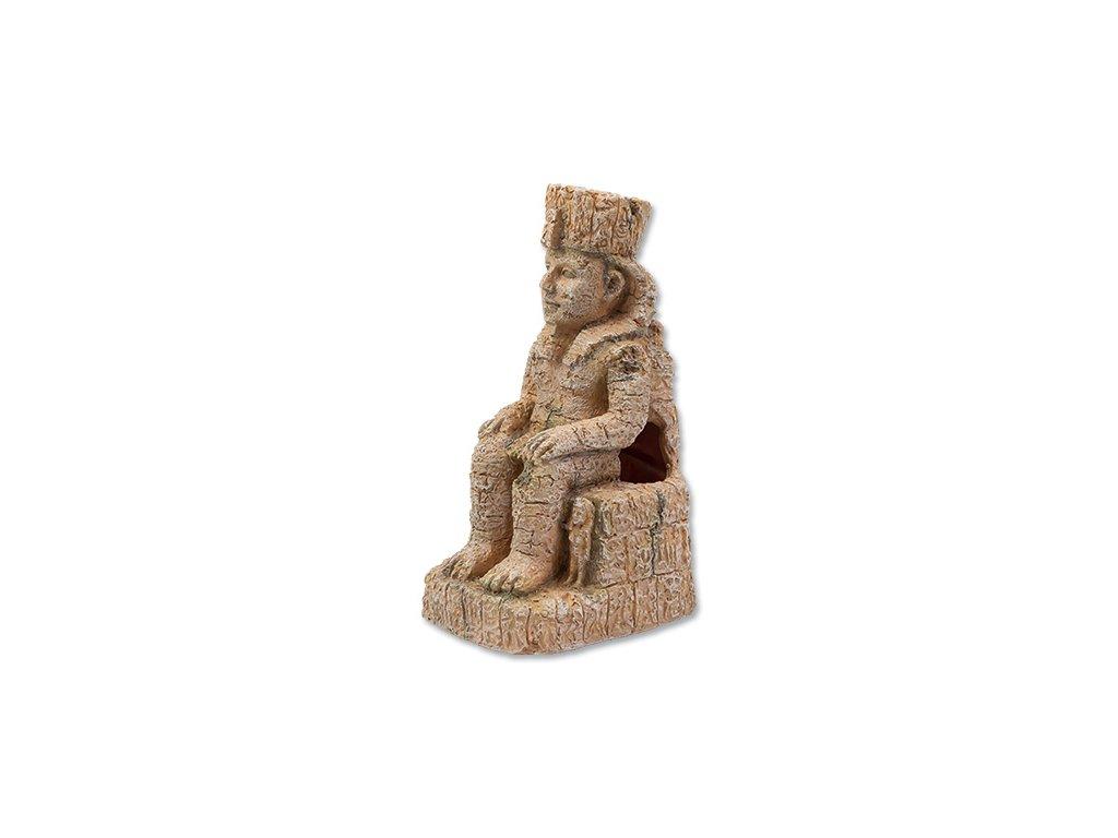Dekorace AQUA EXCELLENT Egyptská socha 10,3 x 8,8 x 17 cm