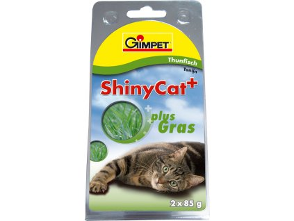 Konz.SHINY CAT tun+koc.trava 2x70g