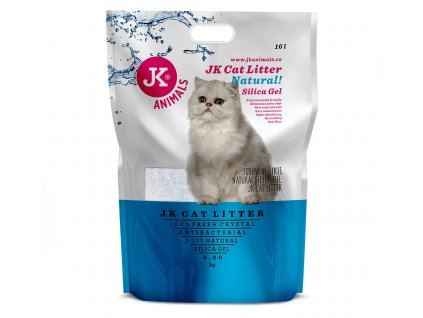 59143 1 jk animals cat litter natural silica gel 6 8 kg 16 l 1 w