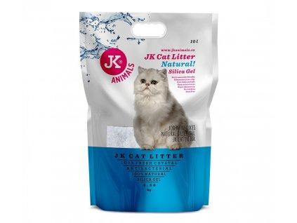 59142 1 jk animals cat litter natural silica gel 4 3 kg 10 l 1 w