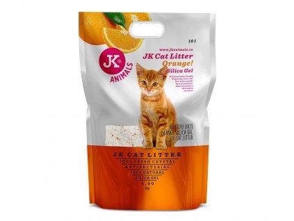 59142 4 jk animals litter silicagel orange 4 3 kg 10 l 1