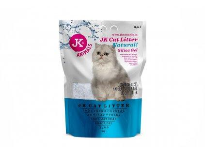 59141 1 jk animals cat litter natural silica gel 1 6 kg 3 8 l 1 w