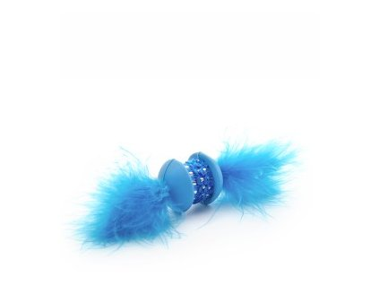 58789 1 jk animals hracka pro kocky modra tpr cinka s pirkem 15 cm 0