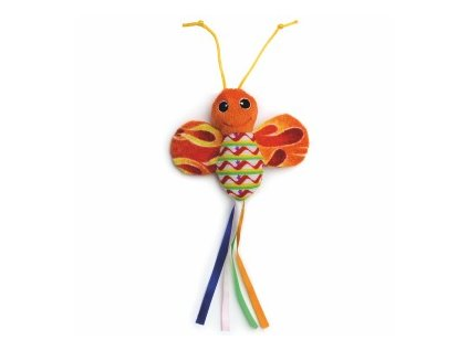 58787 2 jk animals hracka pro kocky oranzovy sustici motyl 28 cm 0
