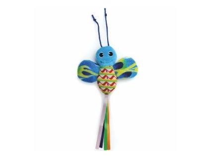 58787 1 jk animals hracka pro kocky modry sustici motyl 28 cm 0