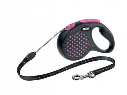 47766 1 flexi design lanko cord small s 5 m 12 kg ruzova 1