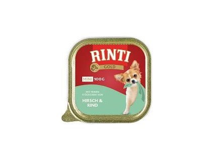 Past.RINTI GOLD Mini jelen+hovezi 100g