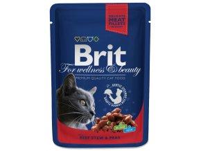 10736 3063 brit premium cat pouches s hovezim a hraskem 100g