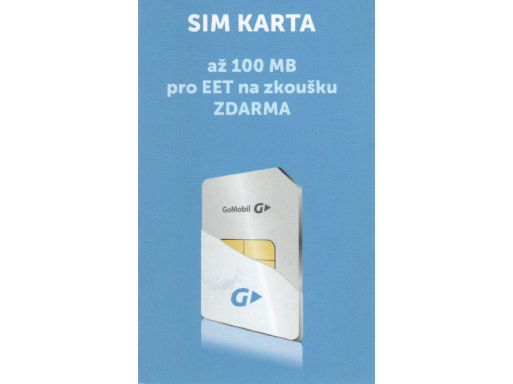 Datová SIM karta GoMobile pro EET