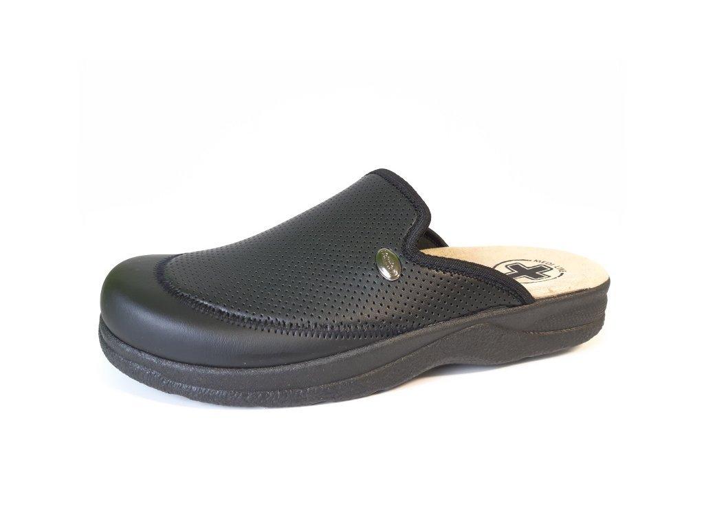 Mediline pánské pantofle 653 černé velikost 41