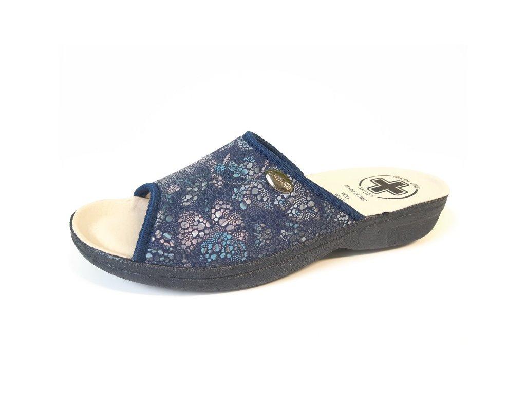 Pantofle Art.411 PAILLETTES BLUE