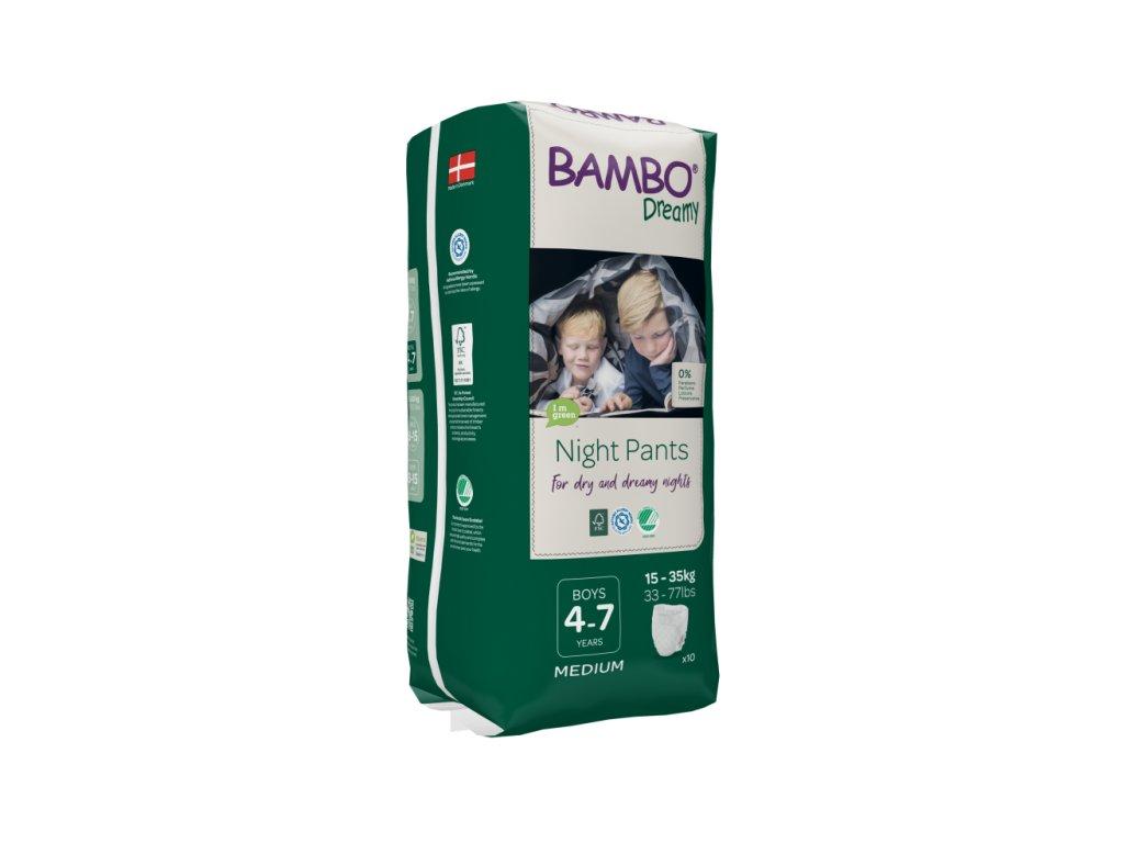 Bambo Dreamy Night Pants chlapci 4-7 let 15-35kg 10ks 1000018875