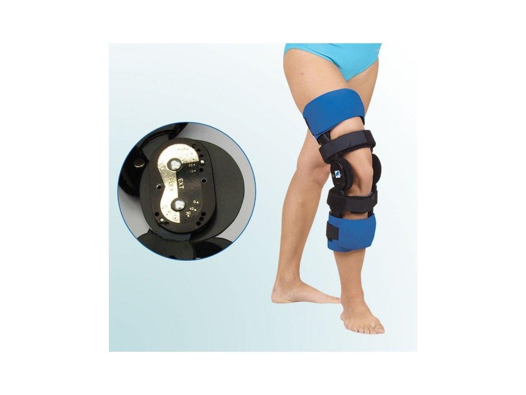 Ortéza kolenního kloubu s limitovaným rozsahem pohybu – pevný rám OR 30