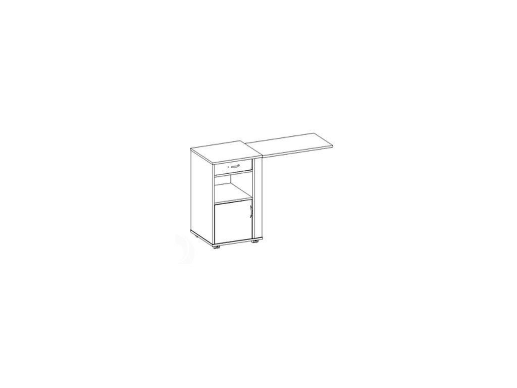 Noční stolek s jídelní deskou