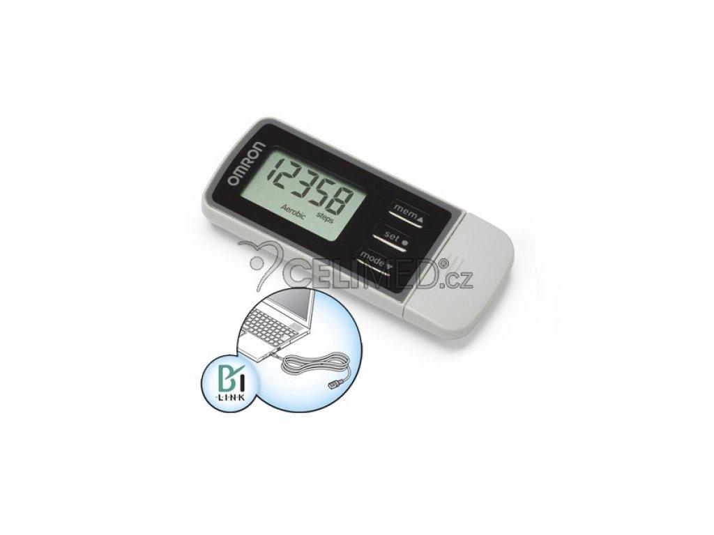 Omron HJ-322U Monitor pohybové aktivity s USB připojením na internet