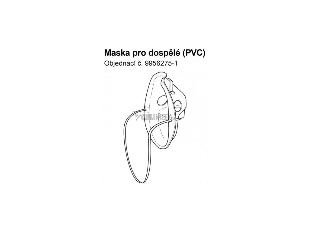 Maska PVC pro dospělé k inhalátorům Omron