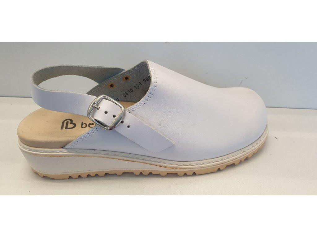Pracovní obuv Elsass bílá kůže velikost 37
