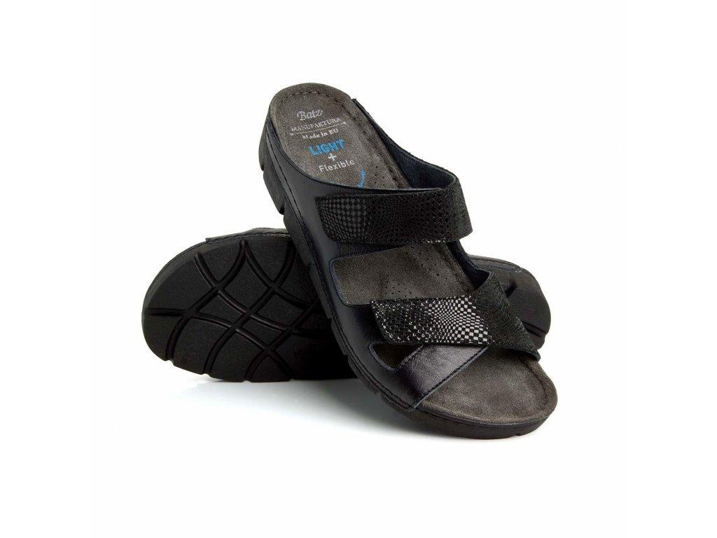 emilia black damske zdravotni pantofle