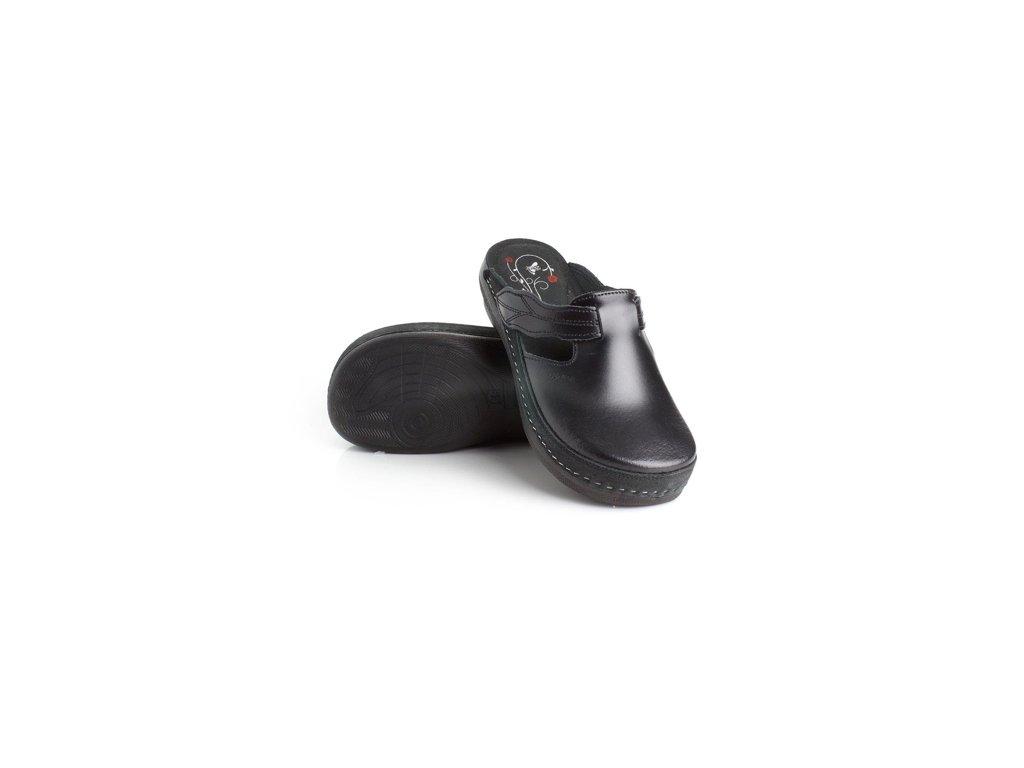 batz flower black damske zdravotni pantofle 510