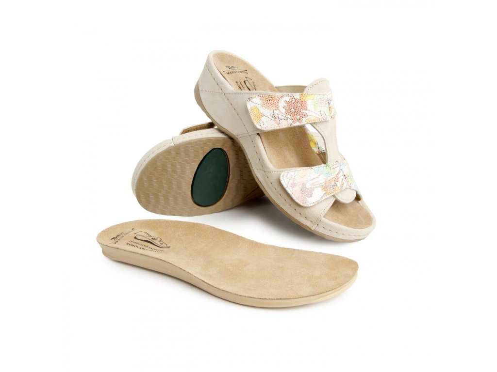 batz imola beige damske zdravotni pantofle