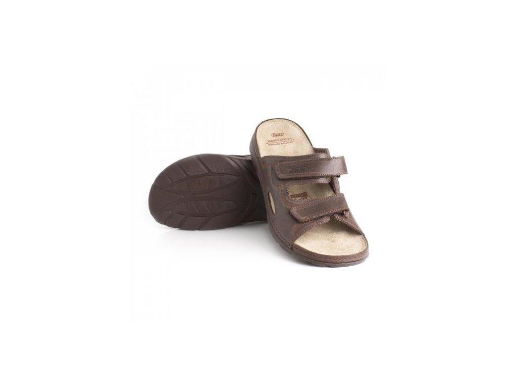 batz mike brown panske zdravotni pantofle 510