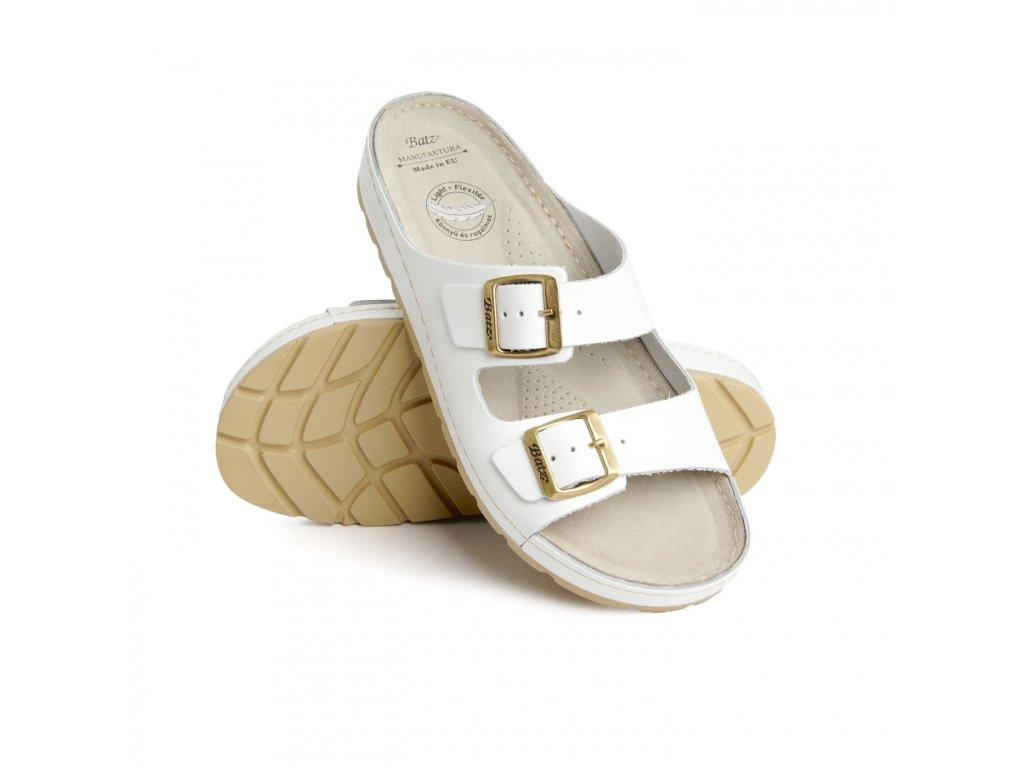 batz zenna white damske zdravotni pantofle