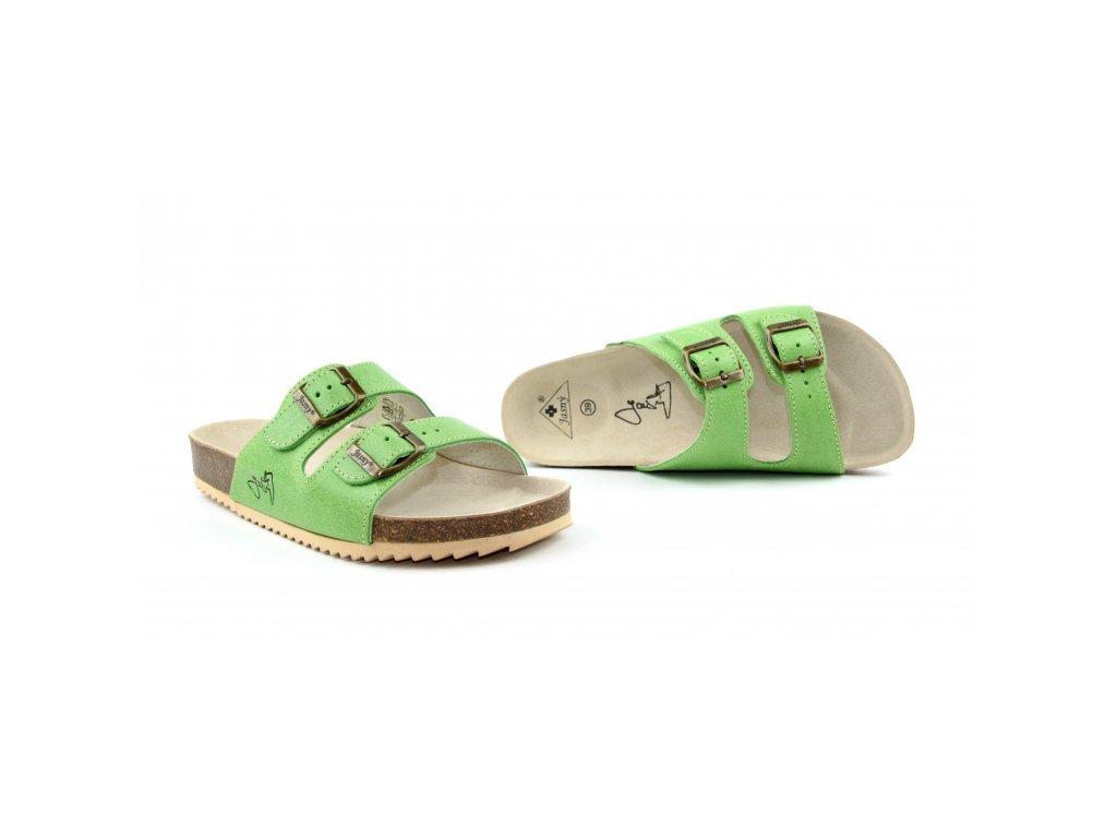 pantofle 2002 pr2 zelene
