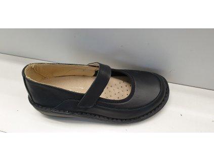 Zdravotní vycházková obuv 83009 nero nappa