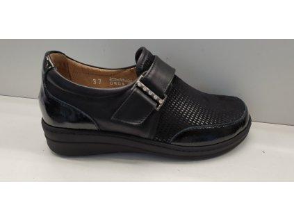 Zdravotní vycházková obuv strech 54070DM nero