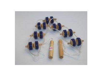Masážní pás kuličkový dřevo + guma