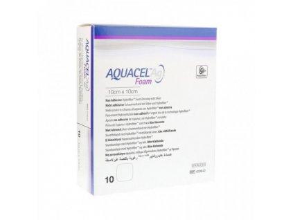 Aquacel AG FOAM 10cmx10cm/10ks NEADHEZIVNÍ
