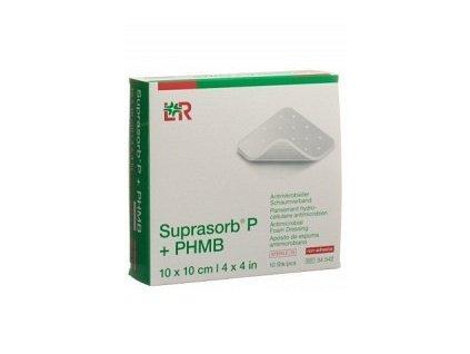 Suprasorb® P+PHMB 10x10 cm/10ks, antimikrob.pěnový obvaz, 34542