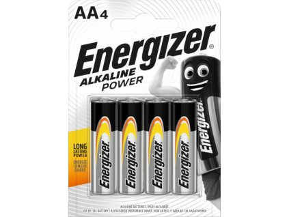 Baterie ENERGIZER ALKALINE POWER AA/4ks tužková/superalkalická/LR6 EB003
