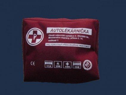 Autolékárnička TYP I taška /kortex/ 0528 (os.+nákl.auto) Vyhl.341/2014 Sb.