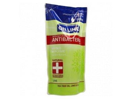 Mýdlo tekuté ON LINE Antibakteriální LIME 500ml /náhrada/ ZELENÉ