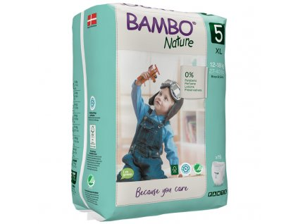 detske pleny bambo nature pants 5 xl 12 18kg 19ks