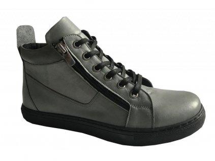 9459 1 damska kotnikova obuv looke jocelina tmave seda