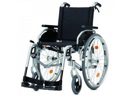 Vozík mechanický invalidní repasovaný/ brzdy pro doprovod