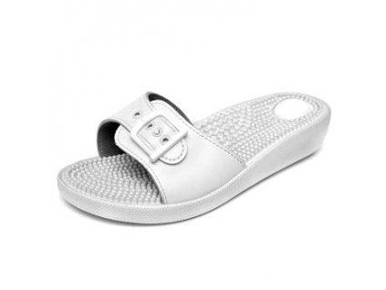 Masážní pantofle Bílá