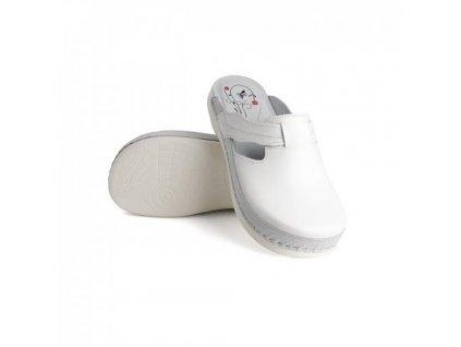batz flower white damske zdravotni pantofle 510