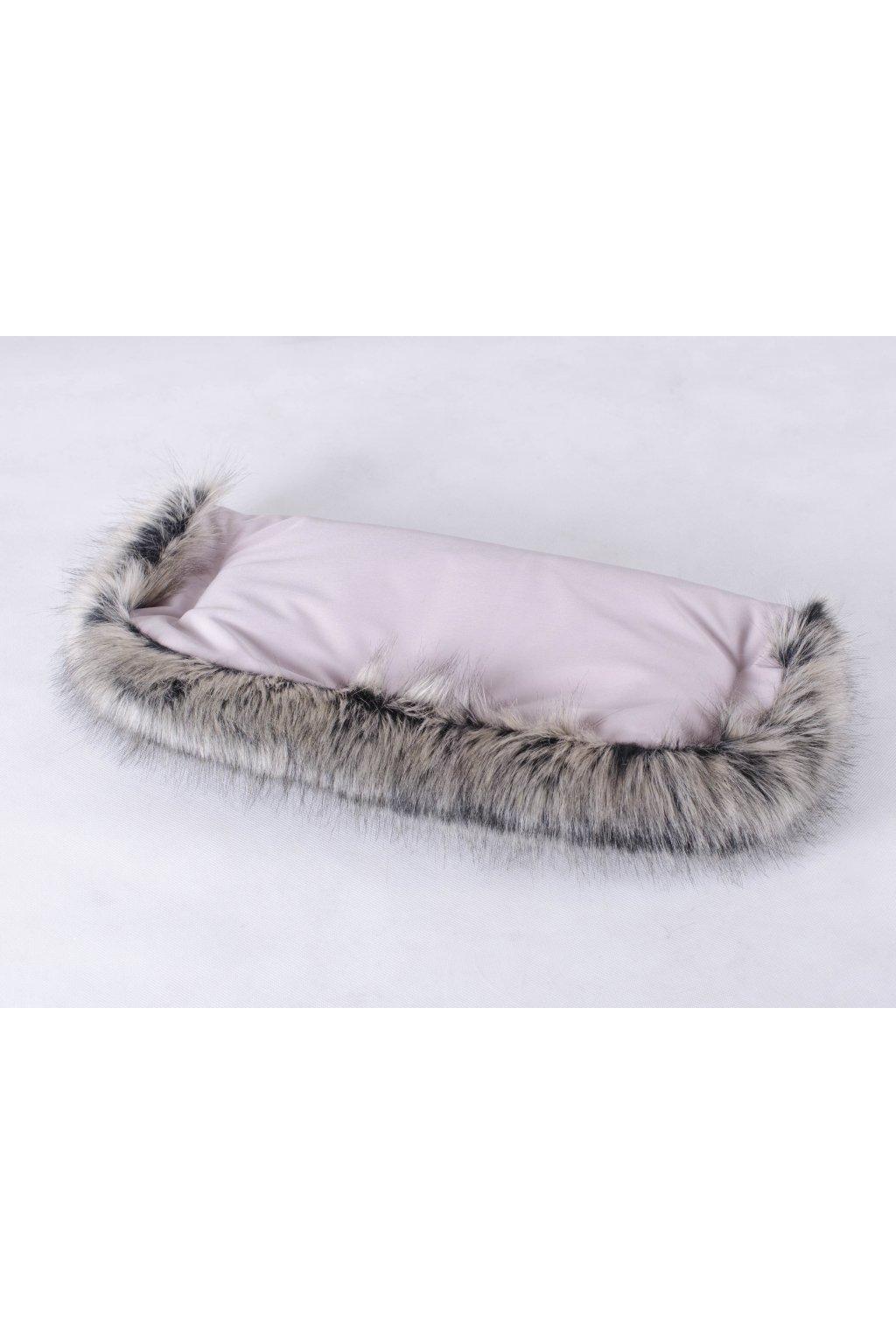 Zu-Lu rukávník softshell Soft pink mýval